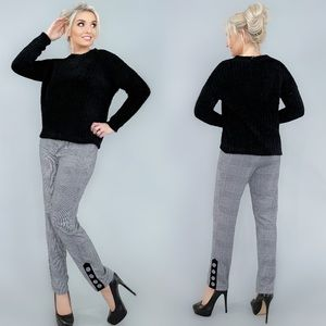 Houndstooth Two Piece Pants Set